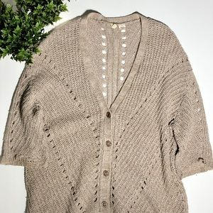 Anthropology Moth knitted cream cardigan